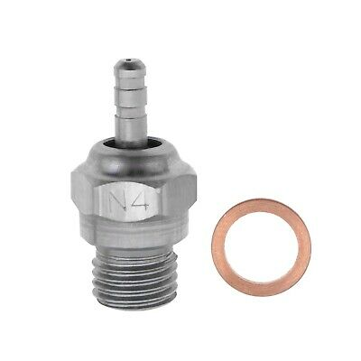 RC N4 Spark Glow Plug Steel For 4C Engines Compatible With 1/10 Scale HSP HPI • 7.67£