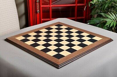 Blackwood And Maple Superior Traditional Chess Board - 2.25  Squares • 120£