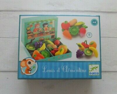 Djeco Louis And Clementine Fruit & Vegetable Market Stall • 12.50£