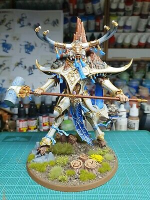 Warhammer Age Of Sigmar AOS Lumineth Avalenor The Stoneheart King Pro Painted  • 160.27£