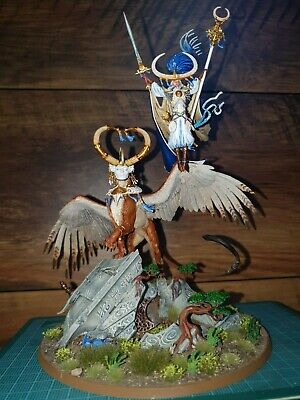 Warhammer AOS Lumineth ArchmageTelcis And Celennar Spirit Of Hysh Pro Painted  • 268.60£