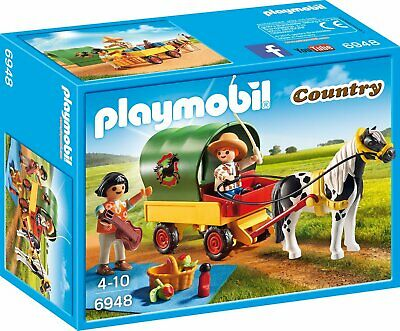 Playmobil 6948 Country Picnic With Pony Wagon • 13.99£