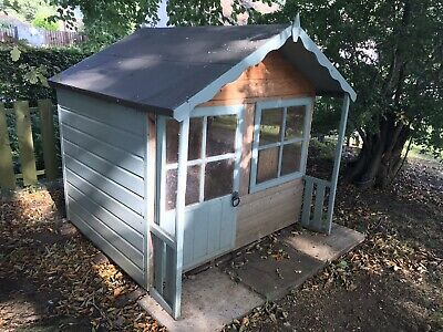 High Quality Wooden Childs Wendy House Playhouse In Great Condition • 25.79£