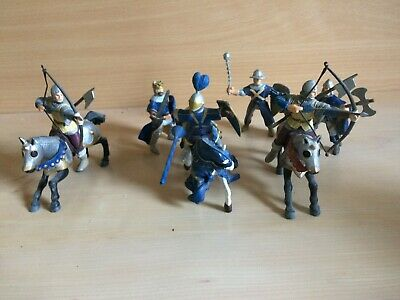 Set Of 6  Papo  Medieval Soldiers - 3 Knights On Horseback And 3 Footsoldiers. • 9.99£