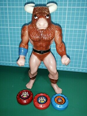 Rare Vintage Crossbows And Catapults MINOTAUR BATTLING GIANT Figure 1984 • 48.89£