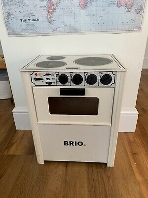 Children's Play Oven By BRIO - Wood, White. • 10£
