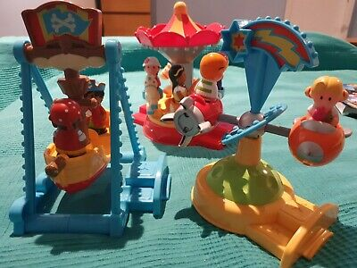 ELC Happyland Fairground Set With Sounds And Characters 10 Items • 16£