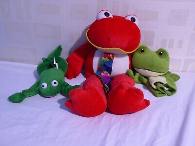Frog Multi Colour Soft Toy Plush Bundle • 1.50£