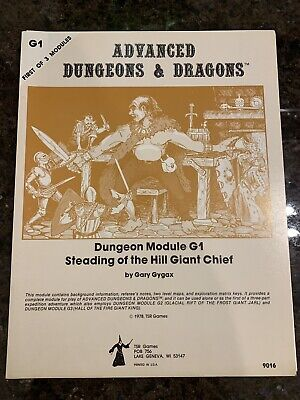 Advanced Dungeons & Dragons: Module G1 Steading Of The Hill Giant Chief 9016 • 12.50£