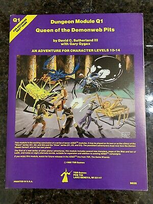 Advanced Dungeons & Dragons: Module Q1 Queen Of The Demonweb Pits, 1980 TSR • 13.06£