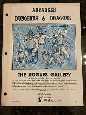 Advanced Dungeons & Dragons: The Rogues Gallery 1980 TSR • 6.06£