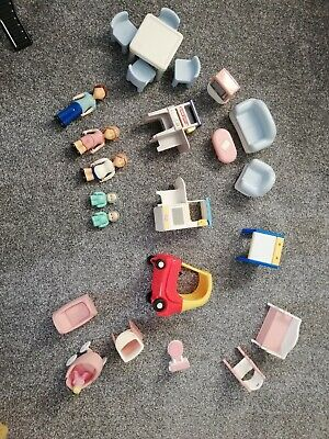 Vintage Little Tikes Furniture And Figures Ect For Dolls House 1980s  • 30£