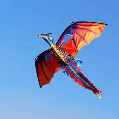 1 PC 3D Dragon Kite Single Line With Tail For Children Outdoor Sports Kite • 14.49£