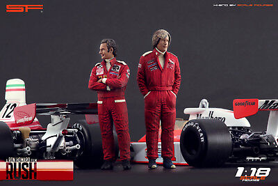 1:18 Niki Lauda & James Hunt VERY RARE!!! Figurines NO CARS !! For RUSH Cars • 104.28£