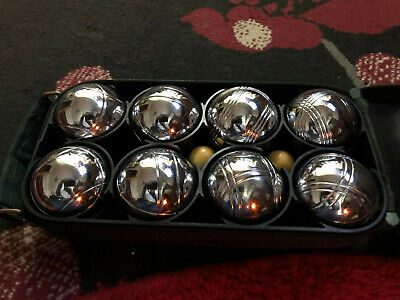 8 French Ball Stainless Steel Boules Set Petanque Outdoor Carry Case Garden Game • 18£