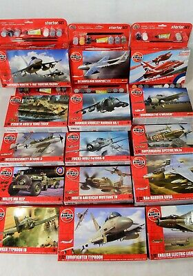 Airfix Starter Set 1:72 Scale Model Kits Including Paints, Glue And Brush • 19£