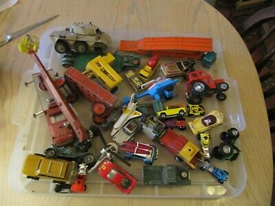 Job Lot Of Vintage Diecast And Plastic Cars And Vehicles Lot A • 24.10£