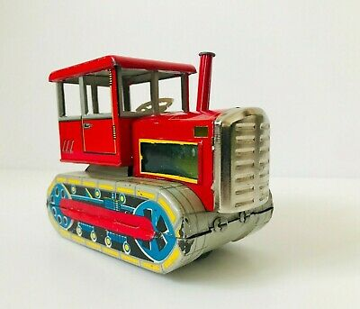 Vintage Red China MF 154 Tin Tractor Friction Toy, Chinese • 98.99£