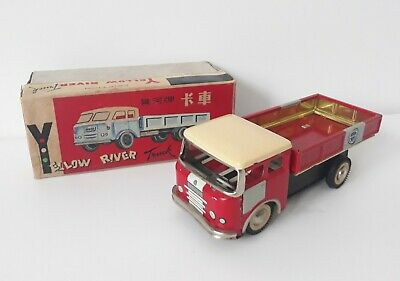 Vintage Yellow River Truck MF936 Friction Chinese Tin Toy, China With Box • 119.99£
