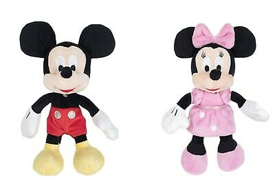 Official Mickey Mouse Club House Core 8  Soft Toy Mickey & Minnie Set • 9.98£