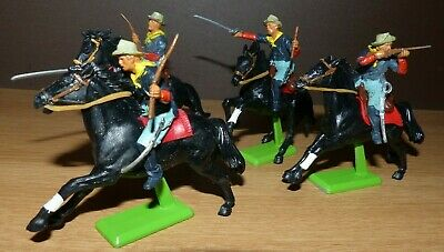 Vintage Job Lot Britain's Us Cavalry Mounted With Horses X 4  Dated 1971 • 18£