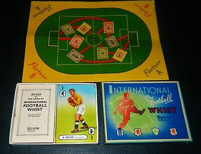 Scarce 1947 Pepy's International Football Whist Card Game Very Good Condition • 14.99£