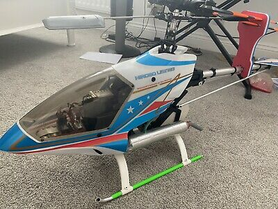 Hirobo Freya Nitro Helicopter And 6K R/C System That Has Been Used Twice • 320£