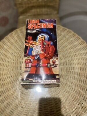Vintage Mego Corp Plastic Battery-Operated Lunar Spaceman Robot, Hong Kong • 300£