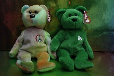 Ty Beanie Babies - Peace And Erin - With Tags • 5.99£