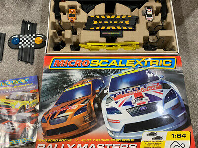 Micro Scalextric 1:64 Rally Masters - Used A Couple Times ~Excellent Condition. • 9£