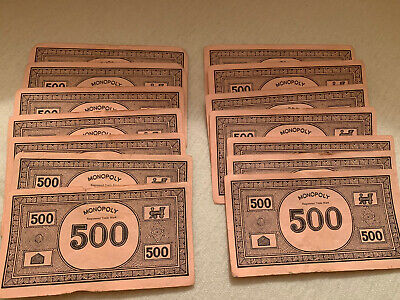 Monopoly Spare Pink 500s X 14 • 1.60£