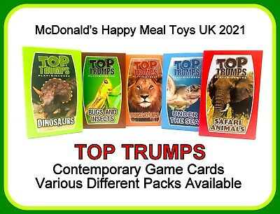 McDonald's Happy Meal Toys 2021 UK Top Trumps Game Cards Various Different Packs • 3.95£
