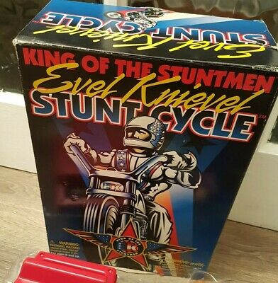 EVEL KNIEVEL Stunt Cycle Set NEW In Box Playing Mantis 1998 • 70£