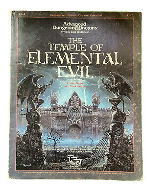 THE TEMPLE OF ELEMENTAL EVIL With Maps T1-4 9147 Advanced Dungeons Dragons (E1) • 60£