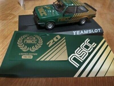 Teamslot Nscc Limited Edition Of 200 Ford Escort Rs2000 Vintage Scalextric Car • 24.99£