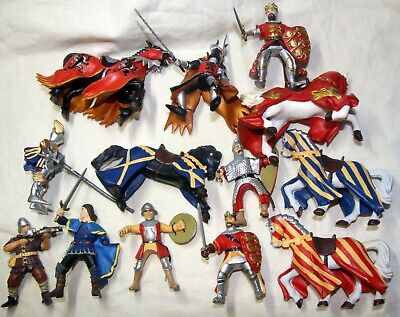 Papo Medieval Knights Foot And Mounted Toy Soldiers • 22.99£