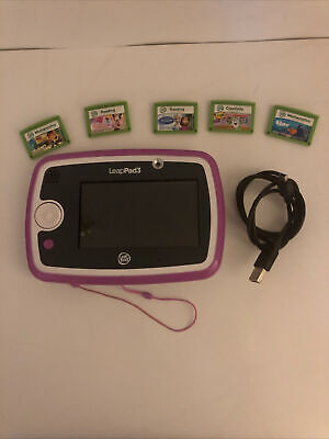 Leapfrog Leappad 3 Bundle Pink - Learning Tablet With 5 Games & Charger Working • 10.49£