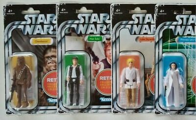 Star Wars Retro Collection Part Set Wave 1. Luke, Han, Leia And Chewbacca. • 47.99£