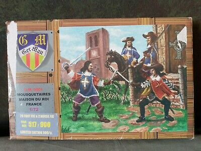 1/72 Musketeers Of France. Rare. 20 Foot Figures And 2 Horse Figures.   • 3.70£