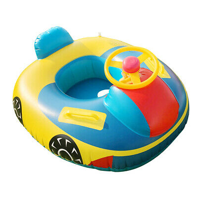 Baby Inflatable Swimming Ring Seat Floating Car Horn Boat Kids Water Toy • 15.52£