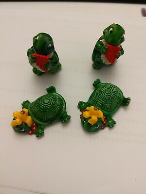 Bundle Of Vintage Kinder Egg Toys - Teeny Terrapin/Turtle 1991-1993 • 2.90£