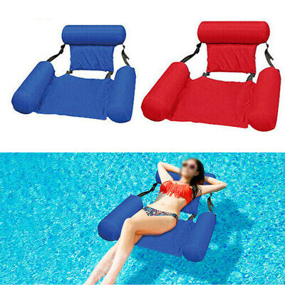 Foldable Inflatable Floating Water Float Pool Lounge Bed Swimming Chair Beach • 16.96£