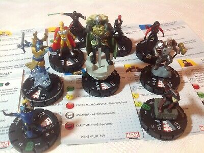 Heroclix Marvel Fear Itself Lot. Raizo Kodo, Heimdall, Attuma, Tanarus, She Hulk • 14.99£