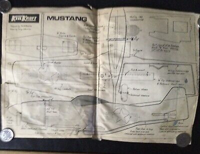 "Plans For "" MUSTANG"" Control Line From 1950s For Cox 049 • 0.99£"