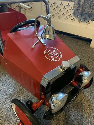 Childs Ride On Vintage Style Metal Pedal Fire Engine • 150£