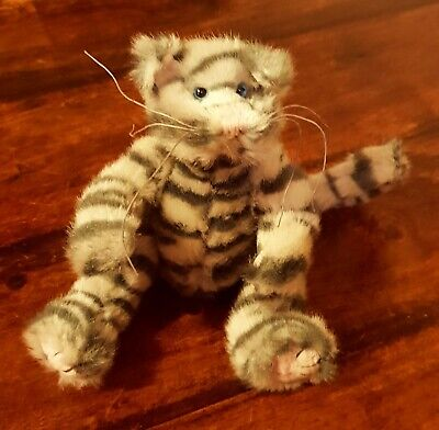 Ty Attic Treasure Max Grey Stripey Tabby Cat Jointed Poseable Plush Soft Toy 9  • 19.95£