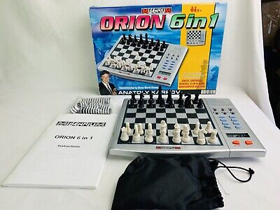 Millennium ORION 6 In 1 . Chess Computer Checkers Etc • 22.99£