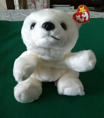 Ty Beanie Buddies Plush White Chilly The Polar Bear 14 Inch Tag Intact. Mint • 19.99£