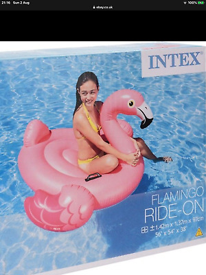 New Intex Ride On Inflatable Flamingo • 7£