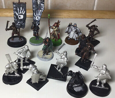 ( Warhammer )LOTR, VINTAGE Collection ALL Metal With Banners • 28£